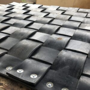 Recycled conveyor matting